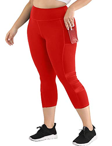 Uoohal Women's Plus Size Active Leggings High Waist Yoga Pants