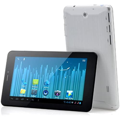7 Inch Android Phablet Silver - 2G Phone + Internet Feature, 1GHz A8 CPU, 512MB RAM Tablets for Kids Table Top Coupons