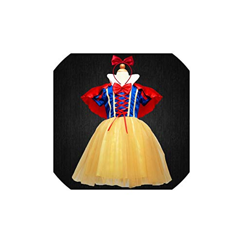 Girl Costume 4 Layers Snow White Cosplay Dresses