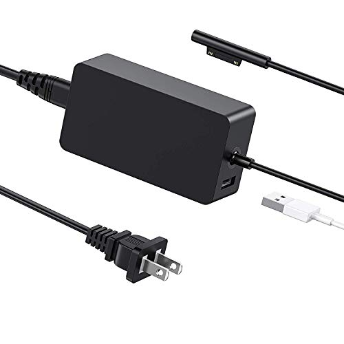 Surface Pro Charger BTBSZ 44W 15V 2.58A Power Supply Compatible with Surface Pro 6 Pro 5 Pro 4 Pro 3 Surface Laptop & Surface Go & Surface Book with USB Charging Port