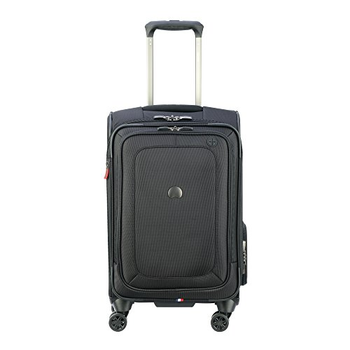 Suiter Spinner (Delsey Luggage Cruise Lite Softside Carry-on Exp. Spinner Suiter Trolley, Black)
