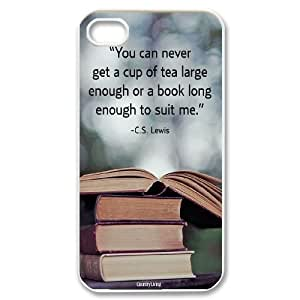 Hjqi - Customized Vintage Library Look Books Phone Case, Vintage Library Look Books DIY Case for iPhone 4,4G,4S