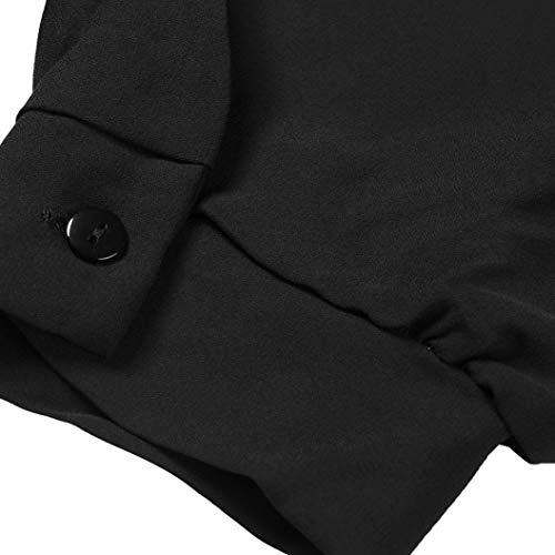 a anteriore Chiffon donna camicetta donne manica elegent Camicia scollo in casual S V chiffon lunga Rosso cravatta camicia nero QinMM qzx4YE