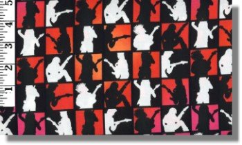 Guitar Solos Fabrics By Michael Miller - 100% Cotton, 44