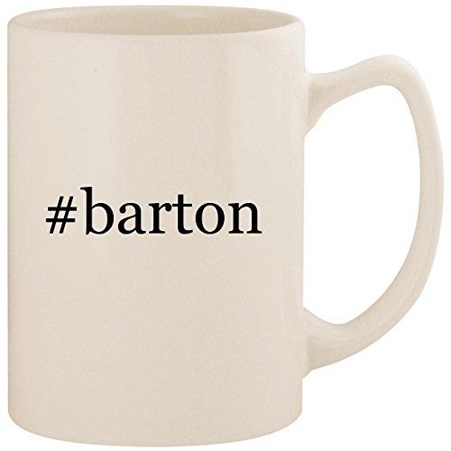 (#barton - White Hashtag 14oz Ceramic Statesman Coffee Mug Cup)