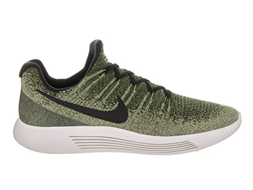 Nike Mens Lunarepic Low Flyknit 2 Rough Green/Black/Palm Green Running Shoe (11.5)