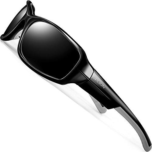 SIPLION Men's Polarized Sunglasses Sports Glasses for Men TR90 Ultra light Frame
