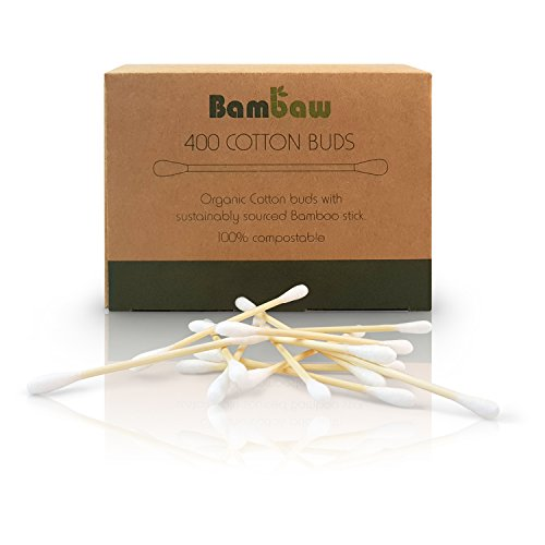 Bamboo Cotton Buds | Eco Cotton Buds | Cotton Swab | Wooden Cotton Bud | Eco Friendly packaging | Recyclable & Biodegradable cotton buds | 400 units| Bambaw by Bambaw
