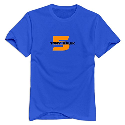 Price comparison product image Tony Hawk's Pro Skater 5 Religion Short-Sleeve RoyalBlue T Shirts For Adult Size M