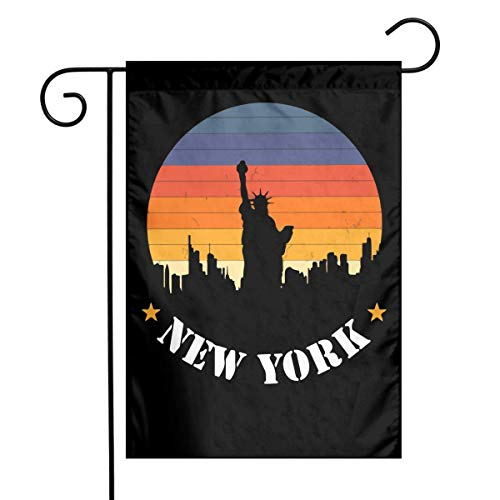 Dongingp New York City Skyline Garden Flag Welcome House Flag for Celebration,Festival,Home,Outdoor,Garden Decorations 12 X 18 Inch