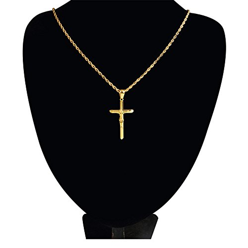 6697049320e3 De bajo costo MCSAYS Collar con colgante de cruz de Juses