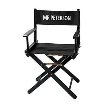 Personalized Director's Chair Film Play Hollywood Wood with Canvas Seat & Back by Fun Express