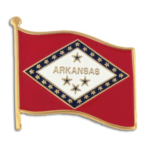 PinMart Arkansas US State Flag AR Enamel Lapel Pin 1