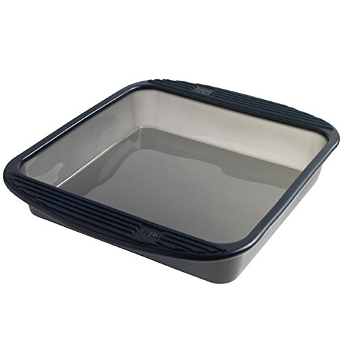 Mastrad Square Cake Pan - Silicone Baking Pan - 9 inch - Non-Stick Bakeware Made With 100% Premium Silicone