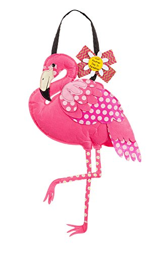 Evergreen Flamingo Outdoor Safe Felt Door Decor