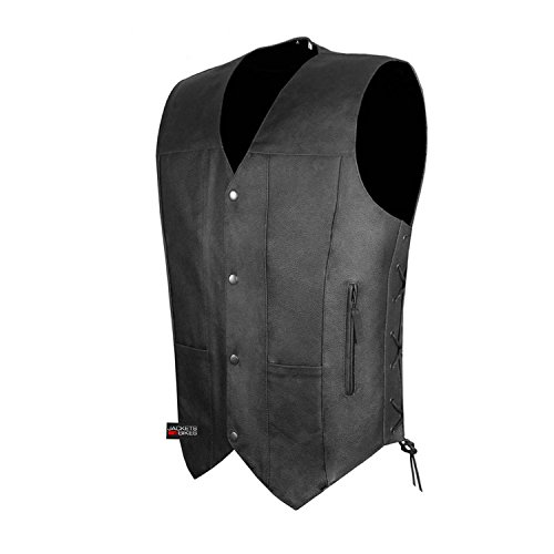 4 Pocket Leather Vest - 2