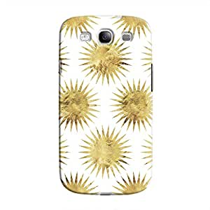 Cover It Up - Gold White Star Galaxy S3 Hard Case
