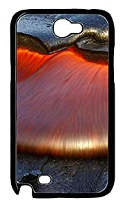 Samsung Note 2 Case nature lava PC Custom Samsung Note 2 Case Cover Black