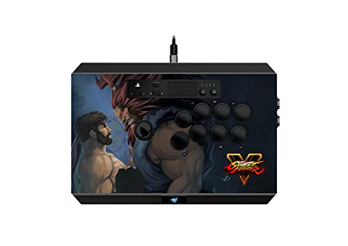 Razer Panthera Street Fighter V: Fully Mod-Capable - Sanwa Joystick and Buttons - Internal Storage Compartment - Tournament Arcade Stick for PS4 and PC (Best Ps3 Arcade Stick)