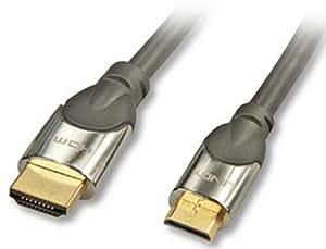 Lindy 2m HDMI A/C Cable - cables HDMI (2m, HDMI, Mini-HDMI) Negro
