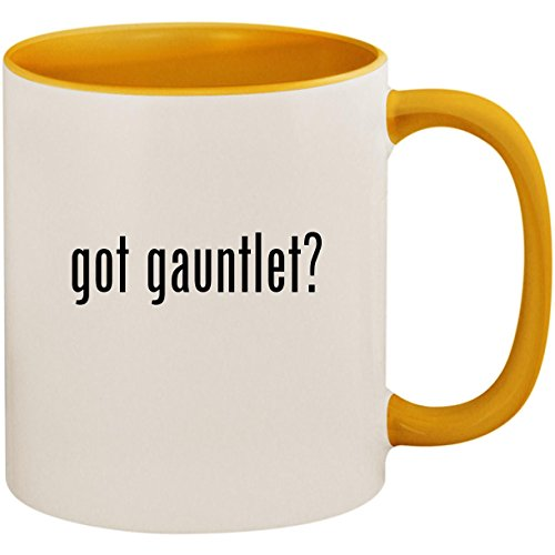 got gauntlet? - 11oz Ceramic Colored Inside and Handle Coffee Mug Cup, Golden Yellow