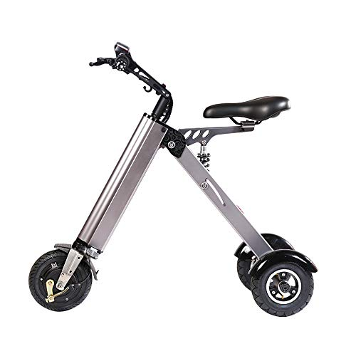 TopMate ES31 Electric Scooter Mini Foldable Tricycle Weight 14KG with 3 Gears Speed Limit 6-12-20KM/H and 3 Shock Absorbers | Especially Suitable for People Over 50 Age On A Trip (Electric Scooter Mini)