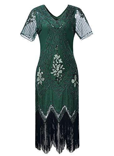 Women 1920s Flapper Dress Vintage - Sequin Fringed