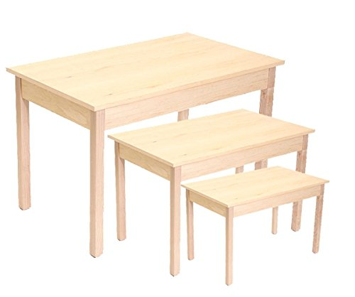 Maple Nesting Table - Nesting Tables Retail Display Furniture Fixture Knockdown Maple Set of 3 NEW