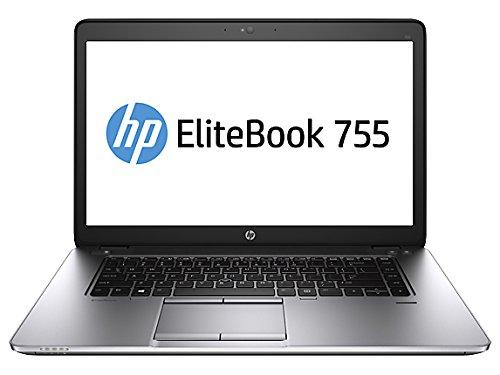 "HP Elitebook 755 G2 J5N88UT#ABA (15.6"" Display, AMD A6 Pro-7050B 2.2GHz, 4GB RAM, 500GB 7200rpm Hard Drive, Memory Card Reader, Webcam, Windows 7 Pro 64-bit)"