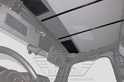 Rampage Products 109435 Frameless Soft Top Kit with Door Skins and Surrounds, 1992-1995 Wrangler (YJ) Black Diamond with Tinted Windows