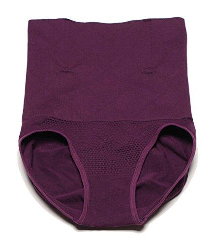 MZjJPN Women High Waist Body Shaper Panties Seamless Tummy Belly Control Waist Slimming Pants Shapewear Girdle Underwear Waist Trainer Purple (Ebola Nurse Costume)