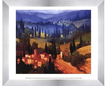 Amazon com: Poster Palooza Framed Tuscan Valley View- 11 75