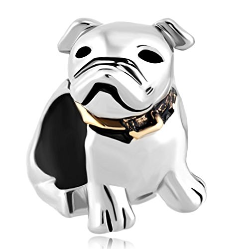 (CharmsStory Sterling Silver Dog Beagle Pet Germany Bulldog Animal Charms Beadss For)