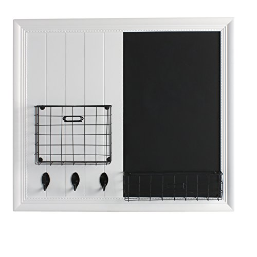 Decorative Chalkboards For Home: DesignOvation Darla Decorative Wood Home Organizer With