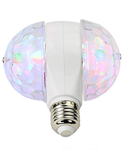 MINO ANT Disco Ball Light- 6W Rotating LED Multicolor Crystal Strobe Bulb, Cool Accessories and Decor for Halloween Christmas Party Birthday Bar or Karokee