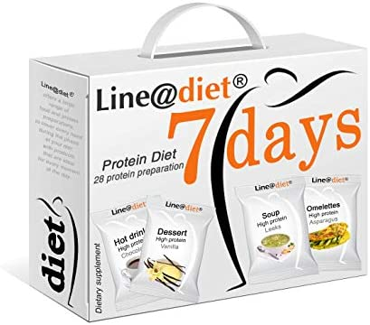 Protein-Diät Line@Diet! Protein Foods for 7 Days | Option: süß = 28 Proteinpräparate ohne Kohlenhydrate und ohne Zucker | Eine Woche voller Frühstück, Snack, Mittag- und Abendessen!