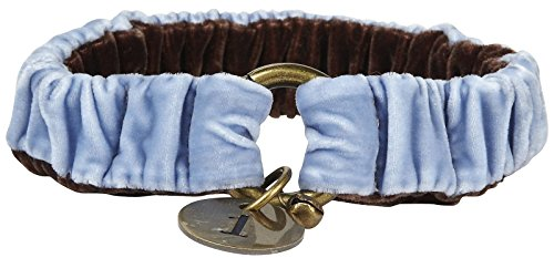 The Life of Ryley Velvet Collar - Blue - Small