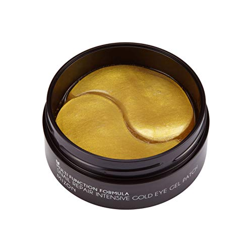 (Mizon Snail Repair Intensive Gold Eye Gel Patch (60ea) Eye Treatment Mask Reduces Wrinkles and Puffiness, Lightens Dark Circles, 24k Gold and Snail Slime Extract, Intensive Care, Moisturizing)