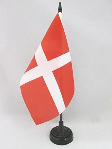 AZ FLAG Bandera de Mesa del Orden DE Malta 21x14cm - BANDERINA de DESPACHO DE San Juan DE JERUSALÉN 14 x 21 cm: Amazon.es: Jardín