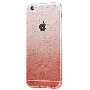 """Caso 6 iPhone, color del gradiente de la caja del gel de silicona de la pendiente suave mate de color dual ultra delgado suave para el iPhone de Apple 6 / 6S más (5,5 """") en rojo"""
