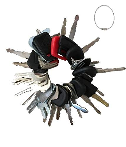 27 Keys Set Construction Equipment Master Keys Set-Ignition Key Ring for Heavy Machines