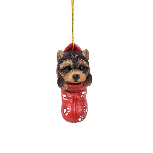 Yorkie Puppy Decorative Holiday Festive Christmas Hanging (Yorkie Christmas Stocking)