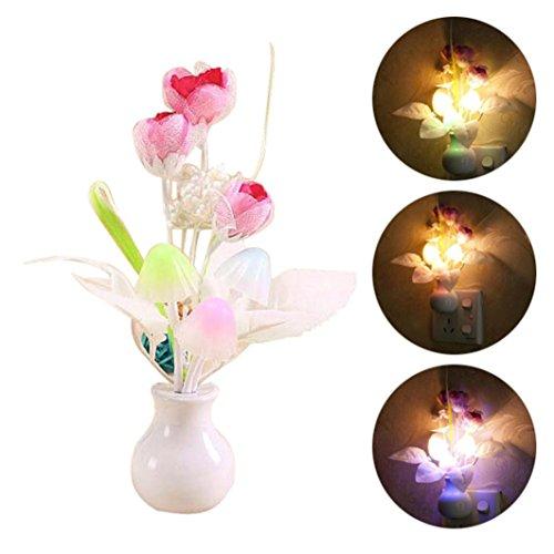 Romantic Colorful LED Mushroom Night Light,Tuscom@ DreamBed Lamp Home Lllumination