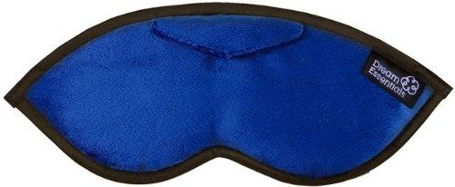 Dream Essentials Opulence Sleep Mask with Earplug Pocket and Earplugs, Plush Navy