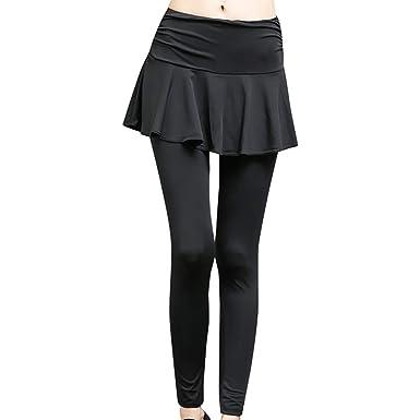 LFEU Pantalones de Falda de Yoga Pantalones Deportivos de ...