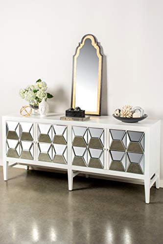 (Statements by J VS239W Spike Sideboard, White, 32 Inch Tall)