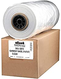 "65 Mil Clear Garment Bags, 21"" x 7"" x 72"", 250 Count"
