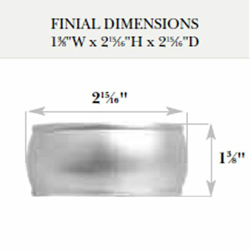 Kirsch Wood Trends Classics End Cap Finial, for 2'' pole, Unfinished (MPN# 46808091) by Kirsch (Image #1)