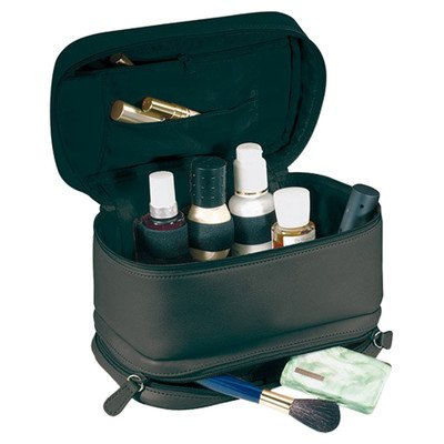 Royce Leather 'Victoria' Cosmetic Travel Bag Color: Black by Royce Leather