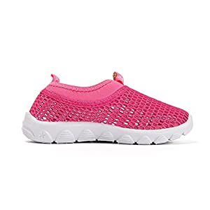 WQINSHOE Kids Breathable Water Shoes Slip-on Sneakers For Running Beach Toddler / Little Kid Pink 21
